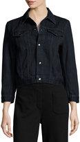 Helmut Lang Cropped Denim Jacket, Dark Blue