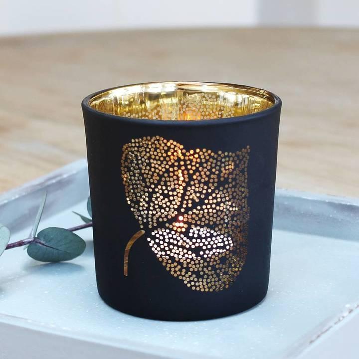 Marquis & Dawe Black Leaf Tea Light Holder
