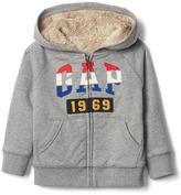 Gap Stripe logo zip hoodie