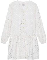 Little Karl Marc John Roberty Polka Dot Buttoned Dress