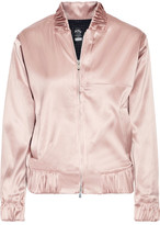 Athletic Propulsion Labs - The Perfect Stretch-satin Bomber Jacket - Antique rose