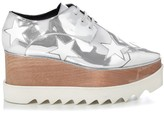 Stella McCartney Elyse metallic lace-up platform shoes