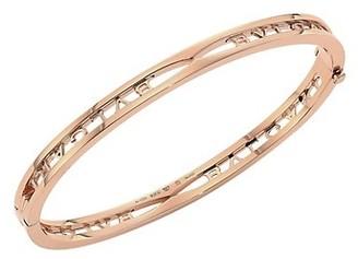 Bvlgari B.zero1 18K Rose Gold Logo Bangle Bracelet