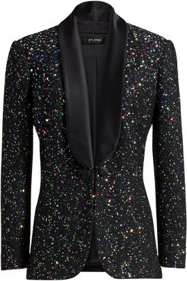 St. John Confetti Sequin Shawl Collar Jacket