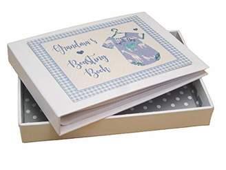 White Cotton Cards Grandma's Boasting Book Photo Album Blue Vest (BV3T)