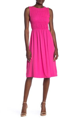 Velvet Torch Floral Long Sleeve Smocked Dress
