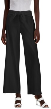 INC International Concepts Inc Petite Tie-Front Wide-Leg Pants, Created for Macy's