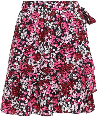 MICHAEL Michael Kors Floral-print Crepe Mini Wrap Skirt