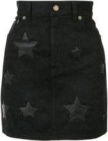 Saint Laurent denim skirt - women - Cotton/Lamb Skin - 27