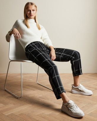 Ted Baker HANSAL Checked tapered joggers