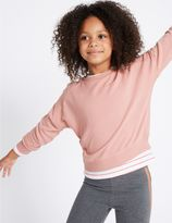 Marks and Spencer Cotton Rich Long Sleeve Sweatshirt (3-14 Years)