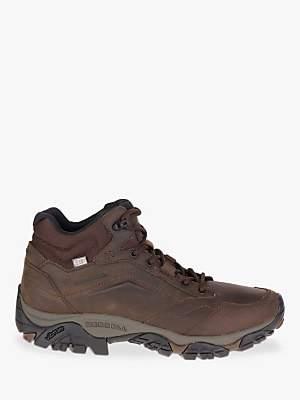 Merrell MOAB Adventure Mid Waterproof Men's Hiking Boots, Dark Earth