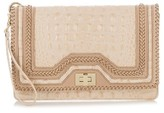 Brahmin Lily Leather Clutch - Beige