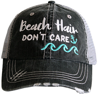Katydid Collection Women's Baseball Caps GRY_MNT - Gray & Mint 'Beach Hair Don't Care' Waves Trucker Hat