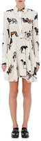 Stella McCartney Women's Dog-Print Shirtdress-WHITE