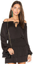 Eight Sixty Neck Tie Top in Black. - size M (also in S,XS)