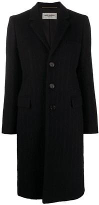 Saint Laurent Stripe-Pattern Single-.breasted Coat
