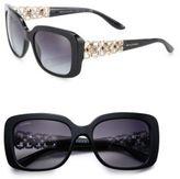 Bvlgari 55MM Square Crystal-Embellished Acetate & Metal Sunglasses