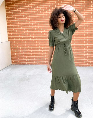 Lola May khaki maxi summer dress