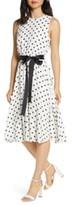 Harper Rose Polka Dot Fit & Flare Dress