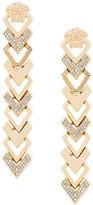 Versace embellished arrow drop earrings