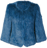 Yves Salomon cropped sleeve jacket
