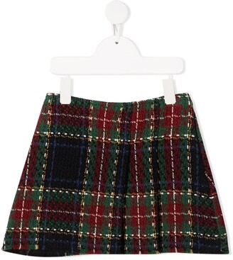 Lapin House Checked Mini Skirt