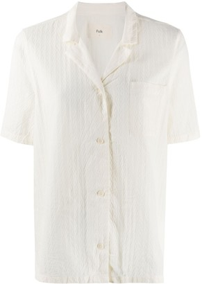 Folk Textured Short Sleeve Shirt
