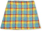Marni Plaid Print Wool-Blend Skirt