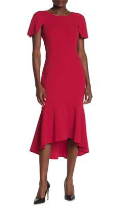 Calvin Klein Split Sleeve High/Low Dress