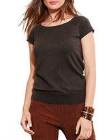 Lauren Ralph Lauren Silk Blend Short Sleeve Sweater