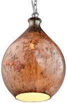 Varaluz French Quarter - 1-Light Mini Chrome Finished Pendant, Red Copper Glas