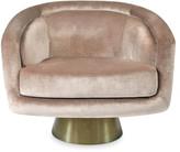 Jonathan Adler Bacharach Velvet Swivel Chair