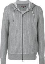 Michael Kors pinstripe zipped hoodie