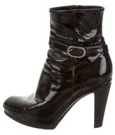 Sergio Rossi Patent Leather Ankle Boots