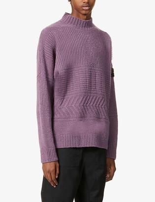 Stone Island Funnel-neck wool-blend jumper