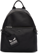 Fendi Black Leather Backpack