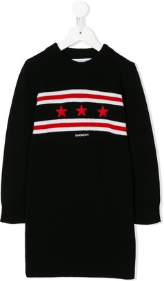 Givenchy Kids star patches jumper