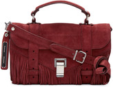 Proenza Schouler Red Suede Fringed Tiny PS1 Satchel