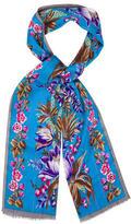 Oscar de la Renta Silk Floral Scarf