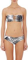 Mikoh Women's Monaco Bandeau Bikini Top-BLACK, WHITE, NO COLOR