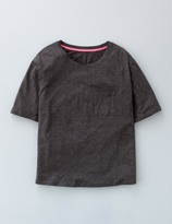 Boden Supersoft Boxy Tee Charcoal Marl Women