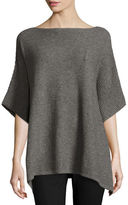 Neiman Marcus Ribbed Cashmere Poncho