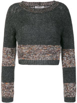 D-Exterior D.Exterior - cropped jumper - women - Acrylic/Nylon/Polyester/Kid Mohair - XS