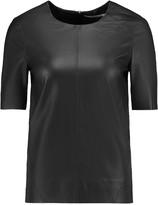 J Brand Clark leather top