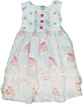 Peaches 'N Cream Lace Dot Dress
