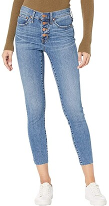 J.Crew 9 High-Rise Toothpick Jeans in Buffalo Wash (Buffalo Wash) Women's Casual Pants