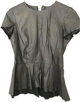 Muu Baa Muubaa Black Leather Top for Women