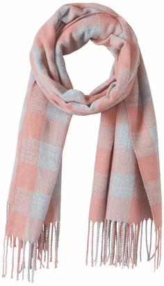 Amazon Brand - Hikaro Ladies Winter Scarves Shawl Tartan Merino Wool Scarf Oversized Blanket Shawl Scarf Christmas Gifts Black Red Grid