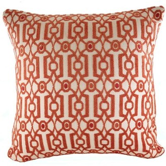 """Rennie World Menagerie Mattalyn and & Rose Design Cotton Blend Throw Pillow World Menagerie Size: 24"""" x 24"""", Color: Beige/Brown"""